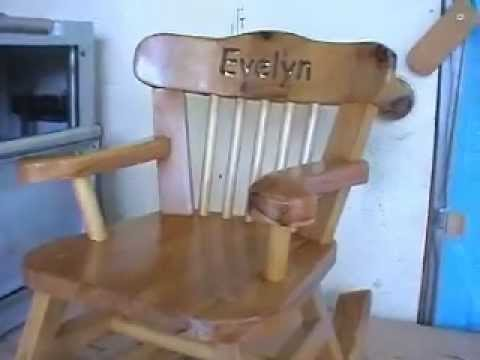 build a child 39 s wooden rocking chair youtube. Black Bedroom Furniture Sets. Home Design Ideas