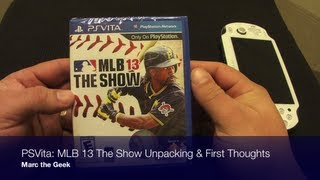 PSVita: MLB 13 The Show Unpacking & First Thoughts