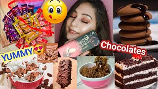 I ate nothing but 🍫CHOCOLATE'S🍫 for 24 HOURS ||My favorite challenge|| Unique kittu