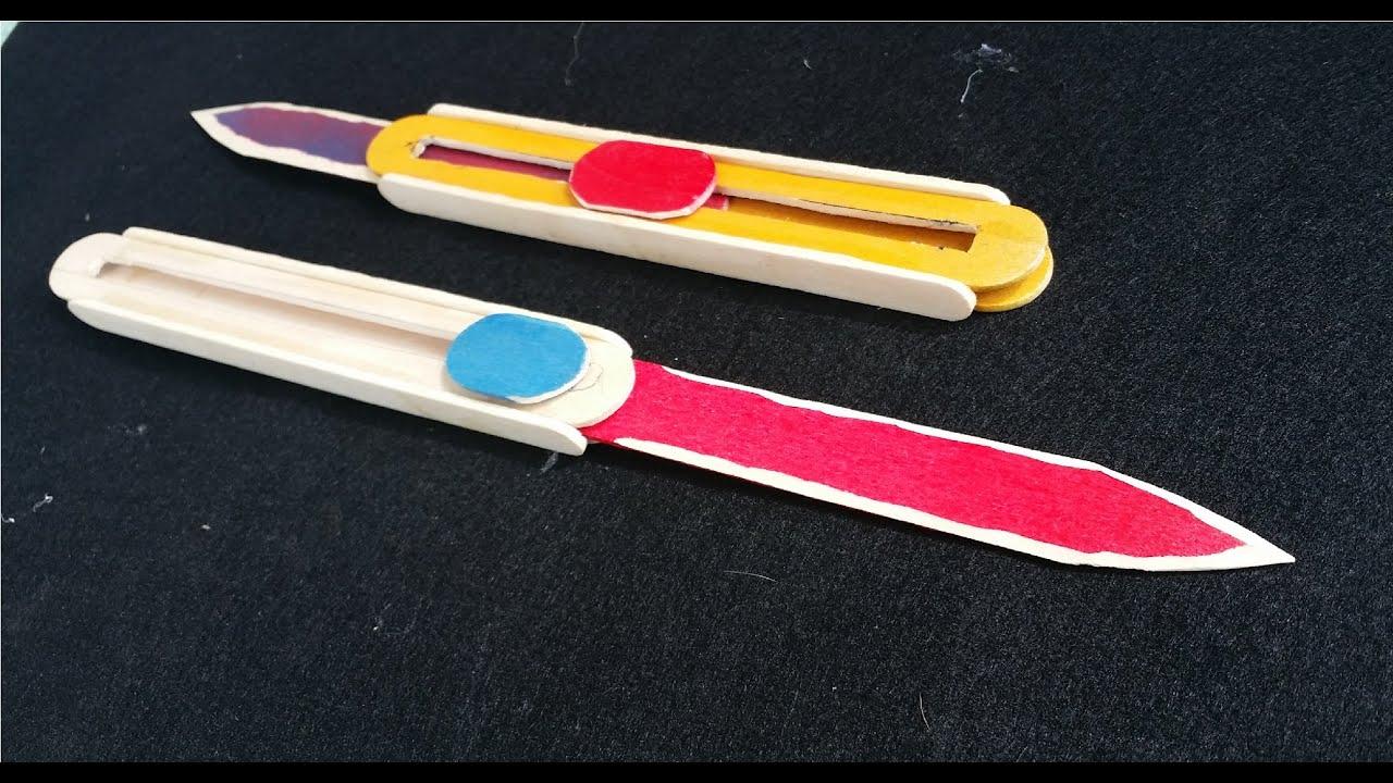Comment faire un couteau de la fto en utilisant des b tons de popsicle youtube - Comment bien aiguiser un couteau ...