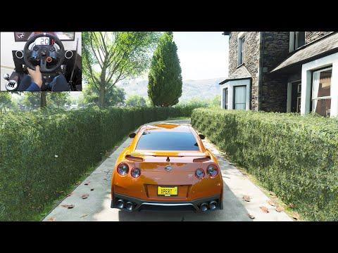 1100BHP Nissan GTR R35  Forza Horizon 4 | Logitech g29 gameplay