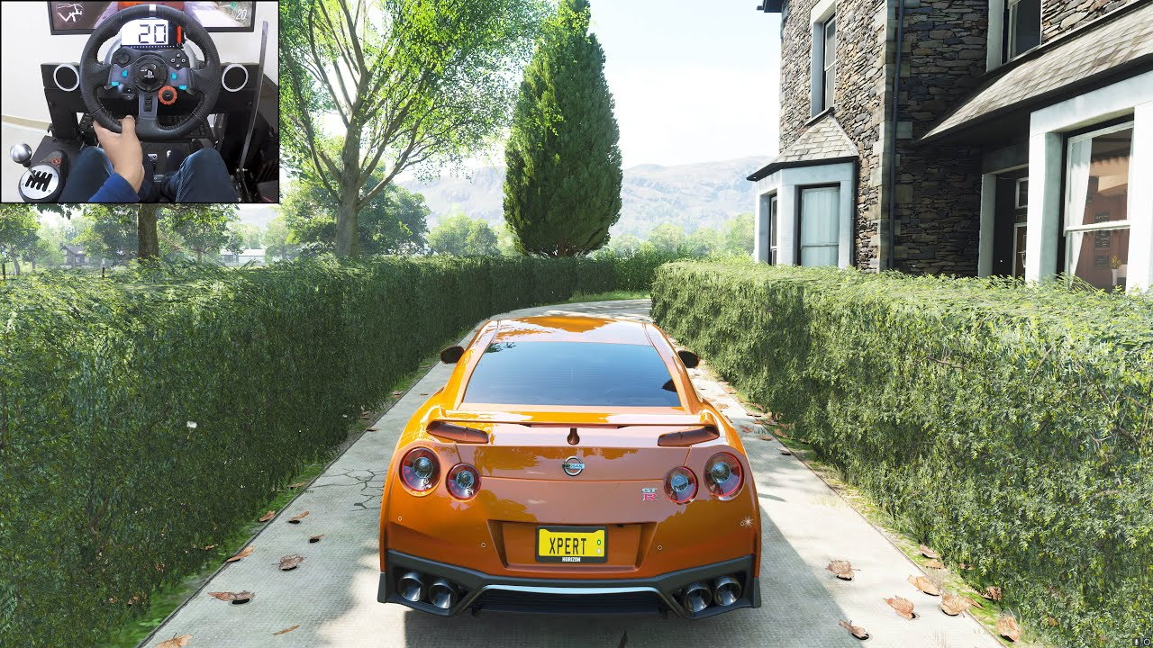 1100BHP Nissan GT-R R35 - Forza Horizon 4 | Logitech g29 gameplay