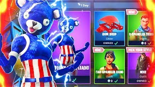New 4TH OF JULY Skins Gameplay! Holiday Skins Fortnite Battle Royale Update! (New Skins Update)