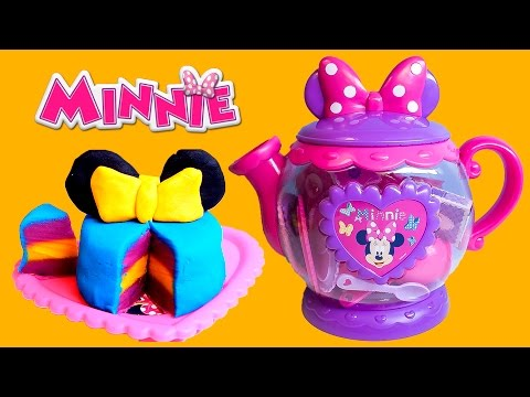 Thumbnail: Minnie Mouse Bow-tique Play Doh Tea Playset Disney Junior Mickey Mouse Toys Juego de Té Plastilina
