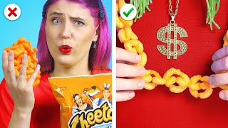 SNEAK CANDIES INTO A CLUB || 8 Funny Situations & Clever Sneak Food Ideas
