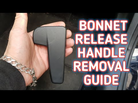 BONNET RELEASE HANDLE REMOVAL AUDI SEAT SKODA VOLKSWAGEN HOW TO HOOD RELEASE HANDLE