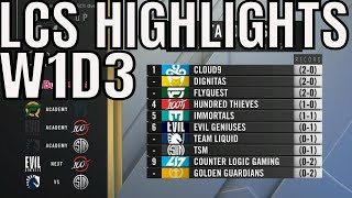 LCS Highlights ALL GAMES Week 1 Day 3 Spring 2020 TL vs TSM, EG vs 100