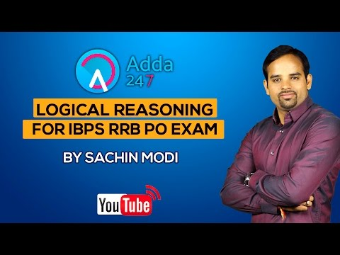 Logical reasoning  for IBPS- RRB PO Exam