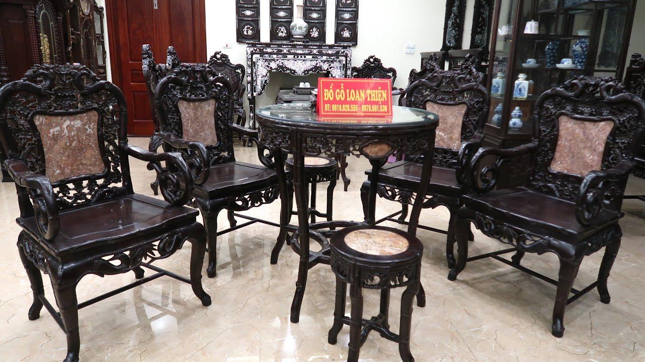 Bàn ghế gỗ trắc bộ ghế trúc mai đẹp Nhất Việt Nam