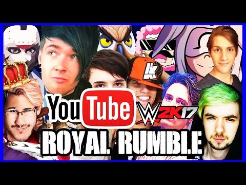 Royal Rumble feat. DanTDM, Markiplier, PopularMMOs & More! | WWE2K17 | [s4e4]