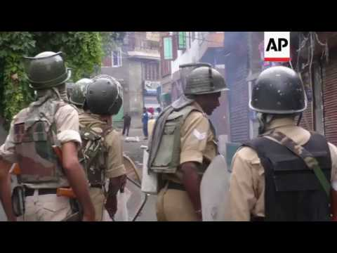 Violent clashes in India controlled Kashmir