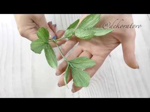 Листья пиона из бумаги / куст пиона / зелень для букетов / dekoratoro DIY
