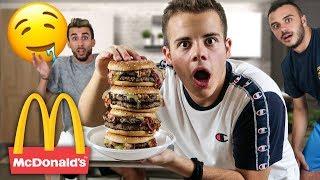 IL PANINO *PIÙ GRANDE POSSIBILE* del McDonald's!!!!! [2000g di hamburger]