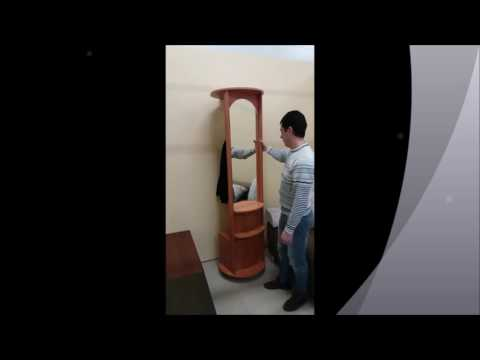Поворотно-выдвижное зеркало с полкой