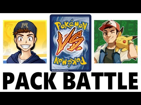 My FIRST EVER Pack Battle! Opening Pokemon Cards VS Leonhart!
