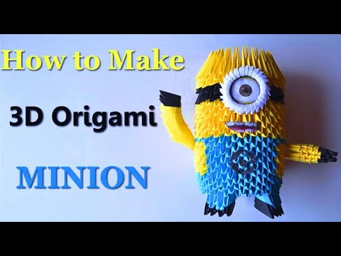 How to make an Origami Minion | Birthday Gifts - 3D Toys | DIY Paper Crafts |Giulia's Art