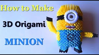 How to make an Origami Minion - Birthday Gifts - DIY Paper Crafts - 3D Toys - Giulia's Art