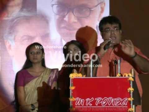 Speech on Entrepreneurship by Sumeet Ponda ,6 may 2011.