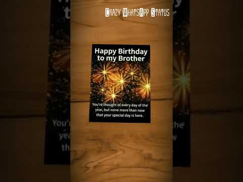 Download】My Brother Happy Birthday song
