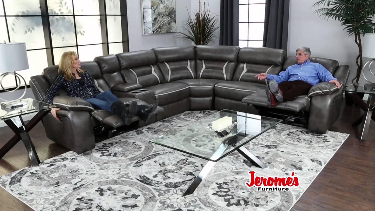 Jeromeu0027s Furniture Maddox Reclining Sectional & Jeromeu0027s Furniture Maddox Reclining Sectional - YouTube islam-shia.org