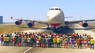 Repeat youtube video CAN 100+ PEOPLE STOP THE PLANE IN GTA 5?