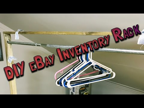 DIY Clothing Rack for My eBay Clothing Inventory