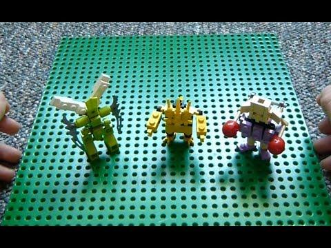 Lego Pokemon Instructions Part 7 Scyther Electabuzz And