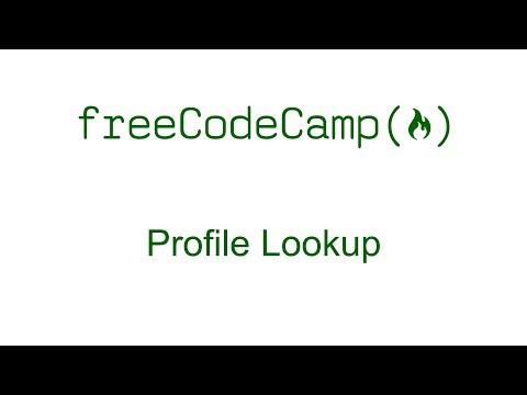 Profile Lookup - Free Code Camp