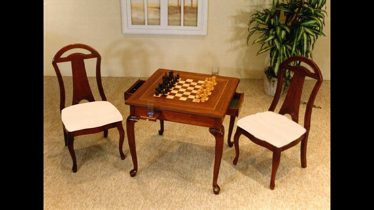 Chess Table And Chairs For Sale