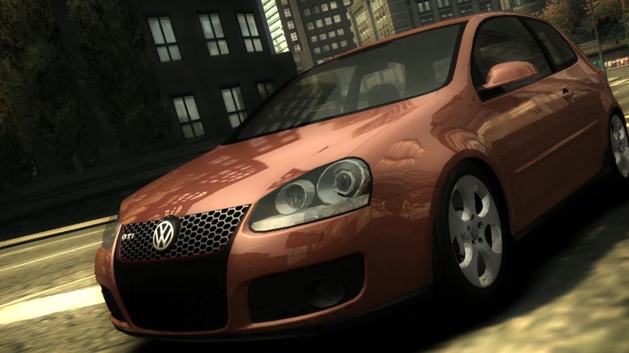 need for speed most wanted volkswagen golf gti test. Black Bedroom Furniture Sets. Home Design Ideas
