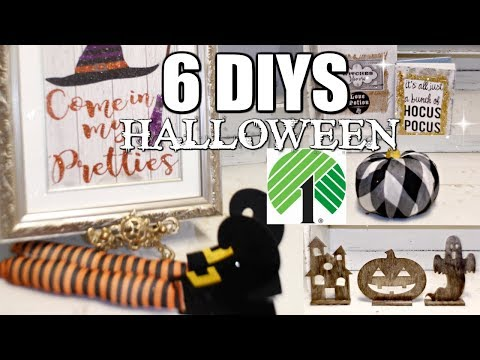 "🎃6 DIY DOLLAR TREE HALLOWEEN DECOR CRAFTS 🎃 ""I LOVE FALL"" ep. 20 Olivia's Romantic Home DIY"