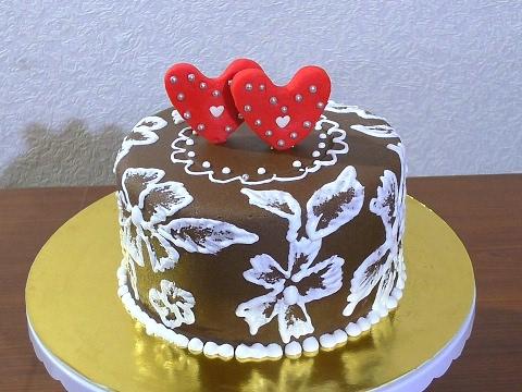 Украшаем торт Как украсить торт своими руками Ажурное ...