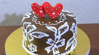 Украшаем торт Как украсить торт своими руками Ажурное украшение торта