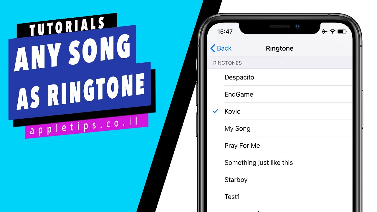 How to set any song as a ringtone