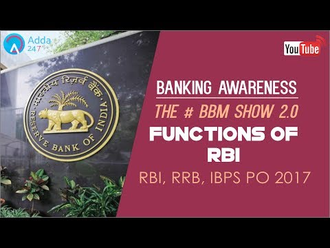 Banking Awareness | Functions Of RBI | IBPS RRB PO & SSC CGL | Online Coaching for SBI IBPS