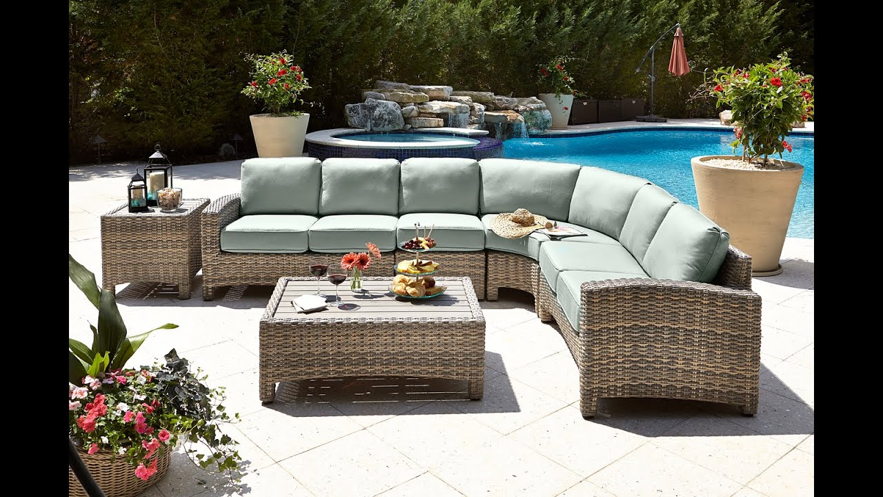 Outer Banks Furniture Beachcraft Rattan Mambo Sectional Manteo