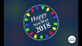 Happy New Year 2018 a quick new year card design in Photoshop Time Lapse Tutorial