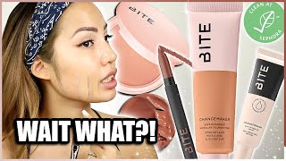 FIRST FOUNDATION?! BITE BEAUTY CHANGEMAKER FOUNDATION | WEAR TEST REVIEW