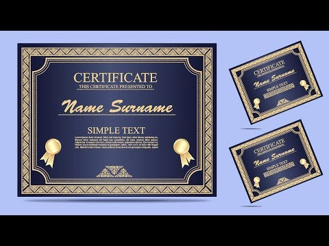 CorelDraw x7 Tutorial   How to Make CERTIFICATE Design #3 By AS GRAPHICS