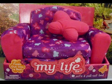 Review Of My Life As Sofa Amp Pull Out Bed For Dolls Youtube