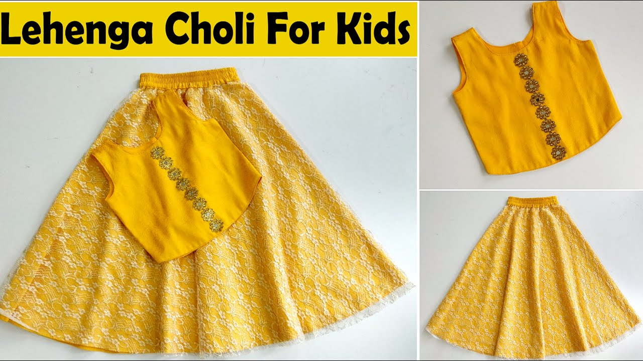 Lehenga Choli For Kids | Cutting And Stitching | English Subtitles | Stitch By Stitch