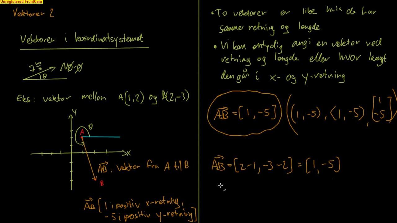R1 060102  - Vektorer i koordinatsystemet