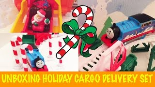 Unboxing Thomas & Friends Trackmaster Holiday Cargo Delivery Set