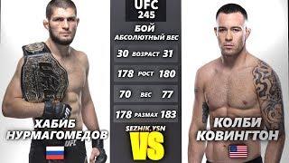 UFC БОЙ Хабиб Нурмагомедов vs Колби Ковингтон (com. vs com.)