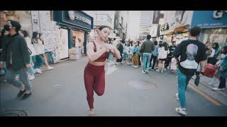 Ezgi Zaman Dance Salsa on the streets of Seoul, Korea - Video by Marc Nguyen