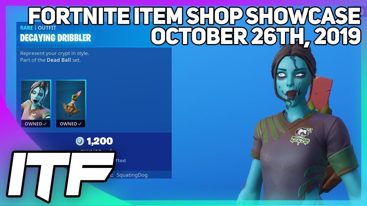 Fortnite Item Shop New Zombie Soccer Skins October 26th 2019 Fortnite Battle Royale