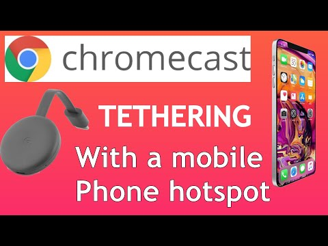 Chromecast Without Home WiFi. Use You Mobile Phones Data Plan. Netflix, Prime.