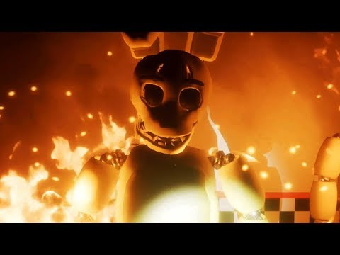 SPRING BONNIE CATCHES FIRE!   Five Nights At Fredbear's (FREE ROAM Five Nights At Freddys)