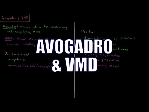 Computational Chemistry 1.3 - Avogadro and VMD