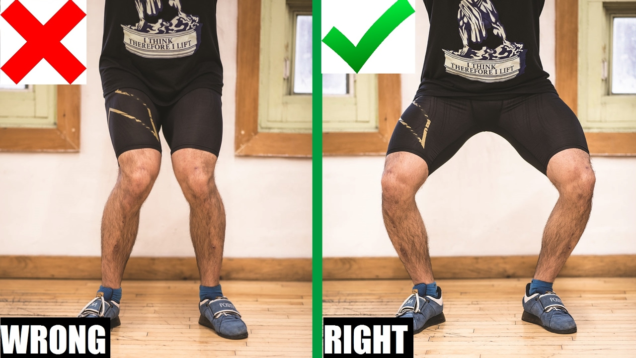 Image result for valgus feet/knee in squat